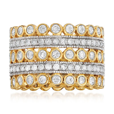 3.00 ct. t.w. Diamond Multi-Row Eternity Ring in 14kt Yellow Gold