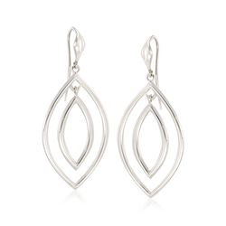 "Zina Sterling Silver ""Contemporary"" Double Teardrop Earrings , , default"