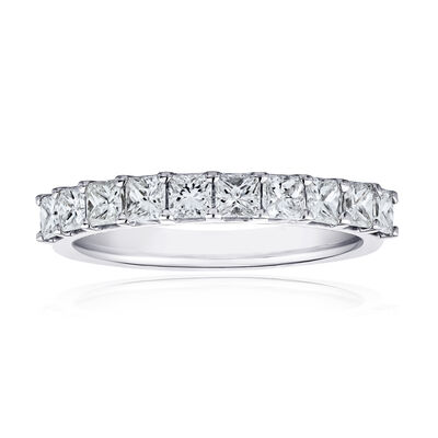 1.00 ct. t.w. Princess-Cut Diamond Ring in 14kt White Gold, , default