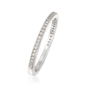 Simon G. .15 ct. t.w. Diamond Wedding Ring in 18kt White Gold, , default