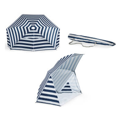 Brolly Beach Navy and White Stripe Umbrella Tent