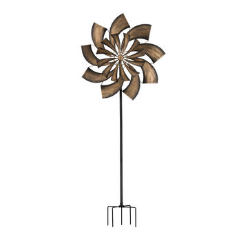 "Regal ""Goldrush"" Outdoor Decorative Garden Wind Spinner, , default"
