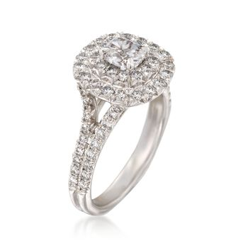 Henri Daussi 1.52 ct. t.w. Diamond Engagement Ring in 18kt White Gold