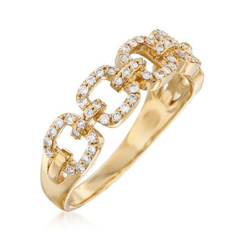 .33 ct. t.w. Diamond Link Ring in 14kt Yellow Gold, , default