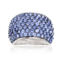 4.30 ct. t.w. Tanzanite Dome Ring in Sterling Silver, , default