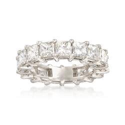 5.50 ct. t.w. Princess-Cut Diamond Eternity Band in Platinum, , default
