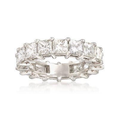 5.50 ct. t.w. Princess-Cut Diamond Eternity Band in Platinum, , default