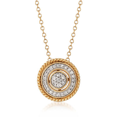 .25 ct. t.w. Diamond Convertible Pendant Necklace in 14kt Yellow Gold, , default