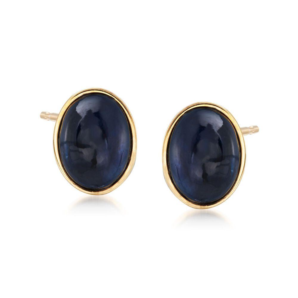 Italian Black Onyx Earrings In 14kt Yellow Gold Default