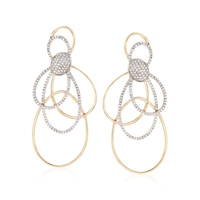 1.15 ct. t.w. Diamond Multi-Loop Drop Earrings in 14kt Yellow Gold, , default