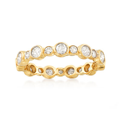 1.00 ct. t.w. Bezel-Set Diamond Eternity Band in 14kt Yellow Gold