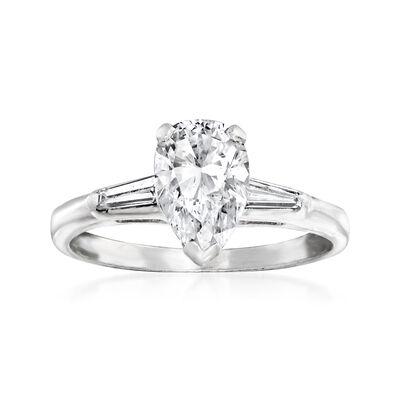 C. 1990 Vintage 1.25 ct. t.w. Diamond Ring in Platinum