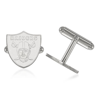 Sterling Silver NFL Oakland Raiders Cuff Links, , default