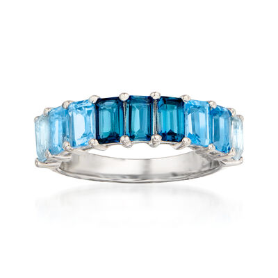 2.60 ct. t.w. Tonal Blue Topaz Ring in Sterling Silver