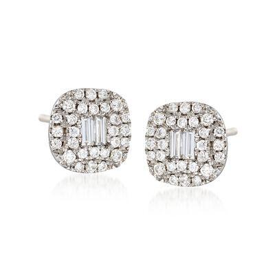 Gregg Ruth .58 ct. t.w. Diamond Earrings in 18kt White Gold