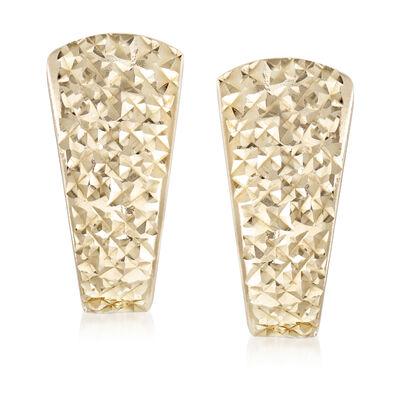 14kt Yellow Gold Shield-Style Earrings