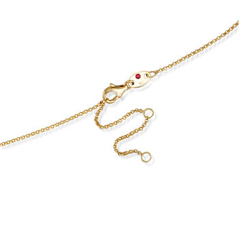 "Roberto Coin ""Princess"" Boy Pendant Necklace with Diamond Accent in 18kt Yellow Gold. 17"", , default"