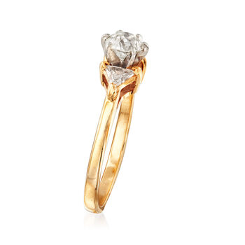 C. 1980 Vintage 1.10 ct. t.w. Diamond Ring in 14kt Yellow Gold. Size 7.5, , default