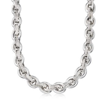 """Sterling Silver Multi-Link Necklace. 18"""", , default"""