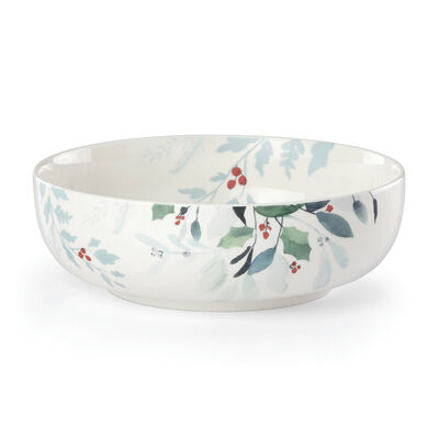 "Lenox ""Frosted Pines"" Serving Bowl, , default"