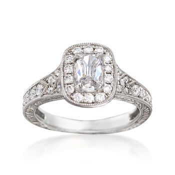 Henri Daussi 1.09 ct. t.w. Diamond Engagement Ring in 18kt White Gold, , default
