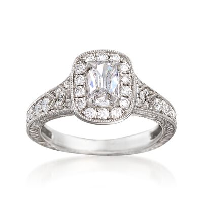Henri Daussi 1.09 ct. t.w. Diamond Engagement Ring in 18kt White Gold, , default