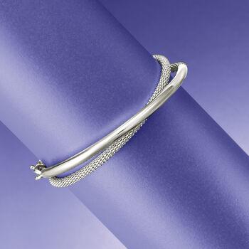 """Italian Sterling Silver Wrap Bracelet. 8"""", , default"""