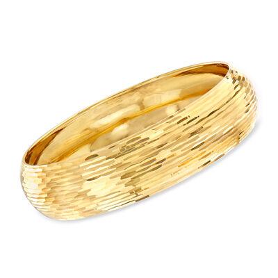 Italian Bangle Bracelet in 14kt Yellow Gold, , default