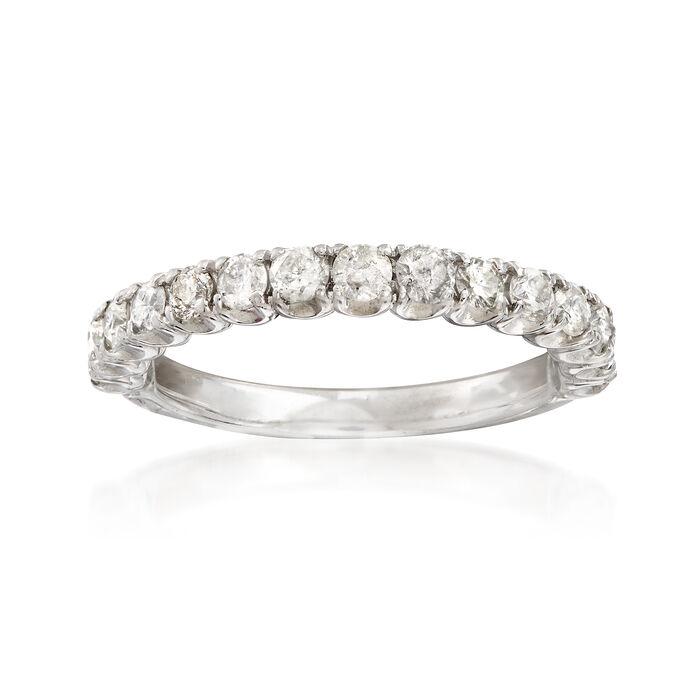 C. 1990 Vintage .75 ct. t.w. Diamond Wedding Band in 14kt White Gold. Size 6.25, , default