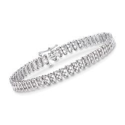 1.00 ct. t.w. Diamond Bar Bracelet in 14kt White Gold, , default
