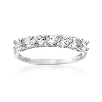 1.00 ct. t.w. CZ Seven-Stone Ring in Sterling Silver, , default