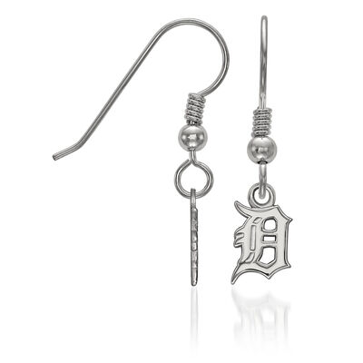 Sterling Silver MLB Detroit Tigers Extra Small Dangle Earrings, , default