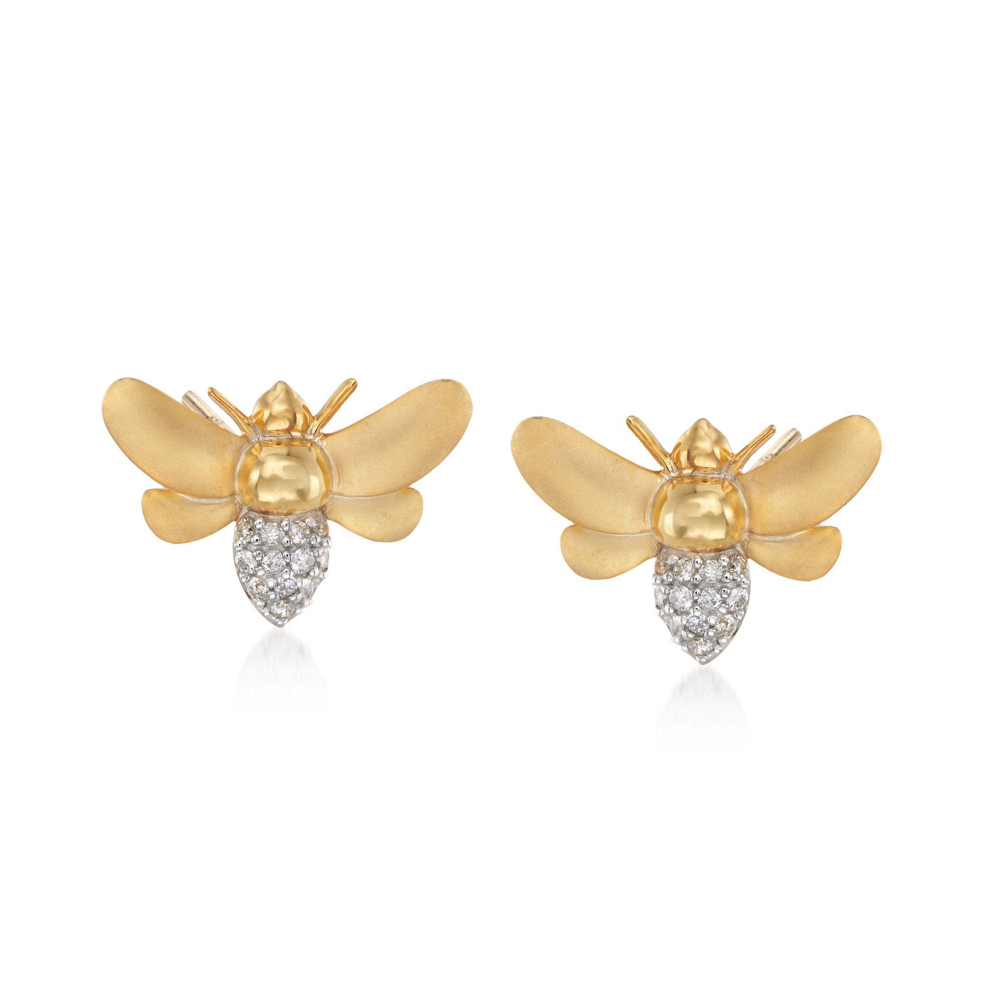 Cute Bee Stud Earrings for Women Honey Bee Earrings Tiny Animal Jewelry Gift