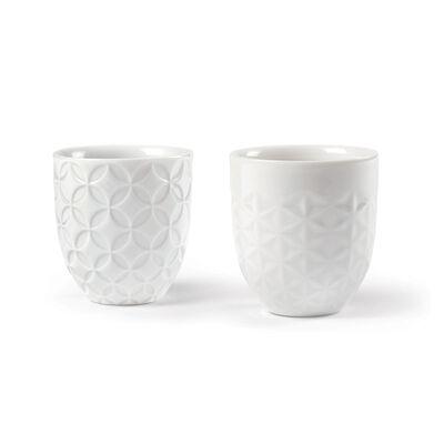 Lladro Set of 2 Porcelain Sake Cups