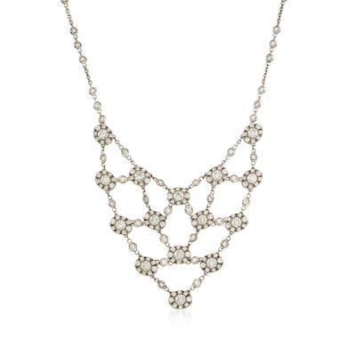 7.13 ct. t.w. Diamond Bib Necklace in 18kt White Gold, , default