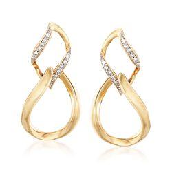 .10 ct. t.w. Diamond Figure-Eight Drop Earrings in 14kt Yellow Gold, , default