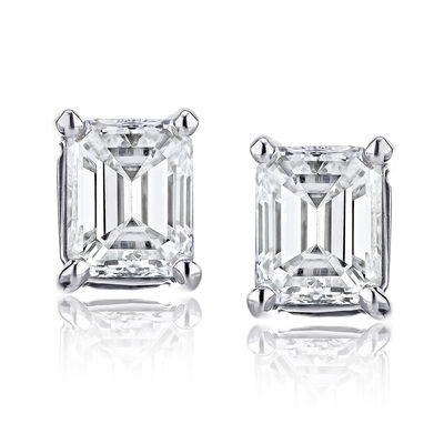 .48 ct. t.w. Certified Diamond Stud Earrings in Platinum