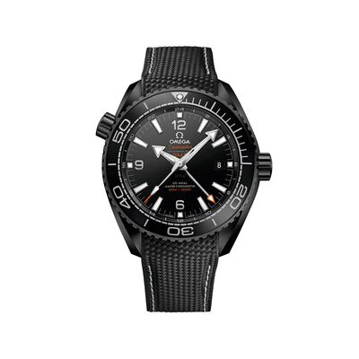 Omega Seamaster Deep Black Men's 45.5mm Black Ceramic Watch with Black Rubber Strap, , default