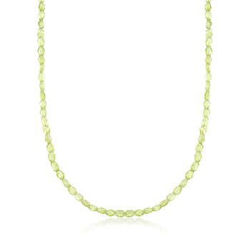 """45.00 ct. t.w. Peridot Bead Necklace in Sterling Silver. 18"""", , default"""