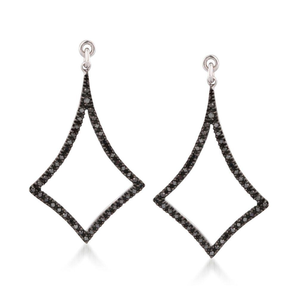 7d31190908c6c .25 ct. t.w. Black Diamond Earring Jackets in Sterling Silver. Earring  Jacket