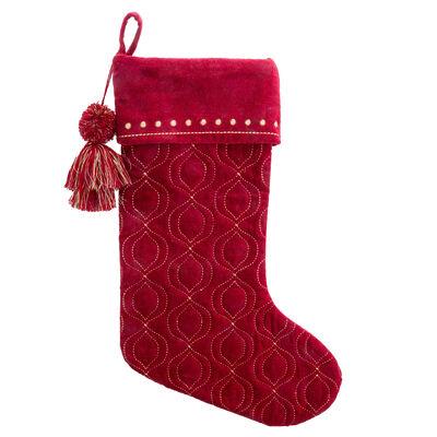 Ornament Berry Velvet Holiday Stocking