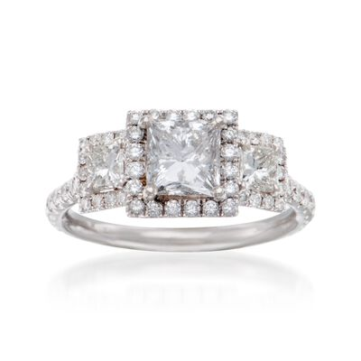 1.96 ct. t.w. Diamond Ring in 18kt White Gold, , default
