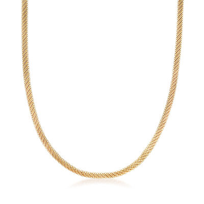 "C. 1970 Vintage Tiffany Jewelry ""Elsa Peretti"" 20kt Yellow Gold Mesh Necklace"
