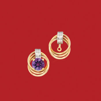 14kt Two-Tone Gold Love Knot Earring Jackets