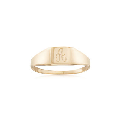 Child's 14kt Yellow Gold Single Initial Signet Ring