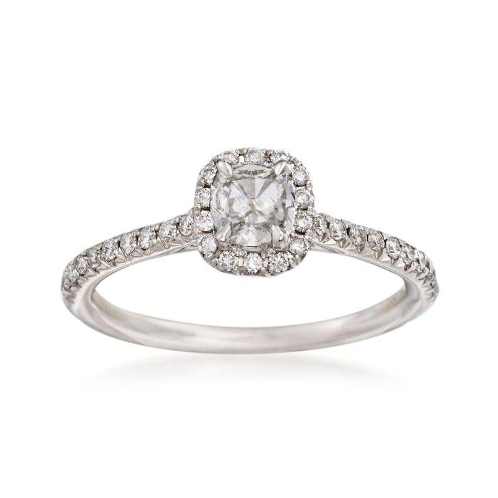 Henri Daussi .68 ct. t.w.  Diamond Engagement Ring in 18kt White Gold, , default