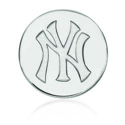 Sterling Silver Mlb New York Yankees Lapel Pin, , default