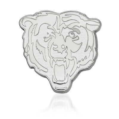 Sterling Silver NFL Chicago Bears Lapel Pin, , default