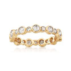 1.00 ct. t.w. Bezel-Set Diamond Eternity Band in 14kt Yellow Gold, , default