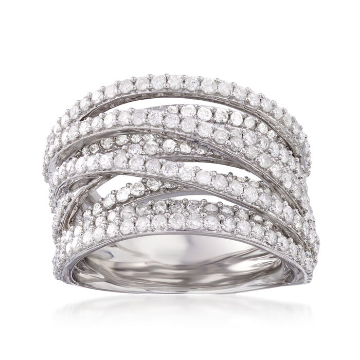 2.50 ct. t.w. Diamond Highway Ring in Sterling Silver, , default